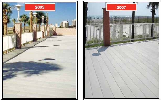 n 2003, Perdido Beach Resort, located in Orange Beach, Alabama, installed STRONGDEK, a fiberglass architectural decking system from Strongwell