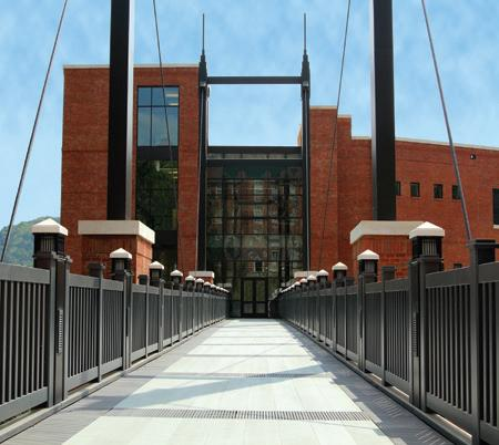 复合悬架桥的另一个视图