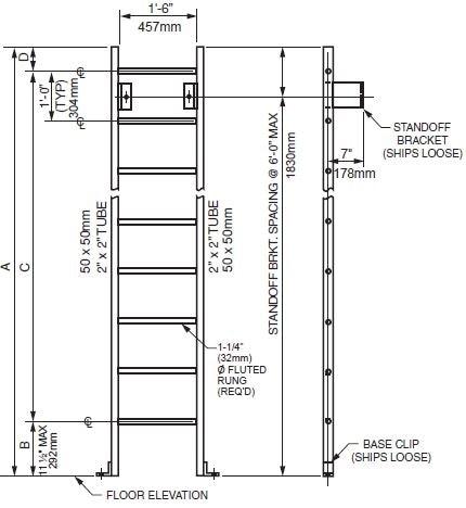 Standard Ladder with Base Mount