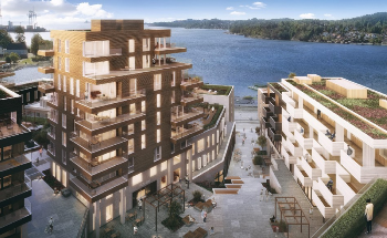 Peab Builds Apartments and Hotel in Larvik, Norway