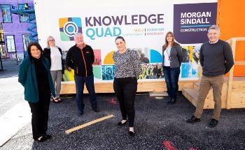 Morgan Sindall建筑带来技能提升到萨尔福德的知识四边构