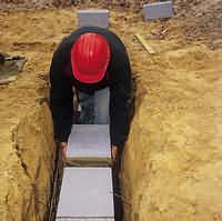 AZoBuild - Building Technology - Celcon Foundation Blocks