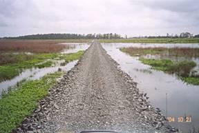 Ecoflex E Pave maintenance road for Energy Australia through swamp Williamtown, NSW